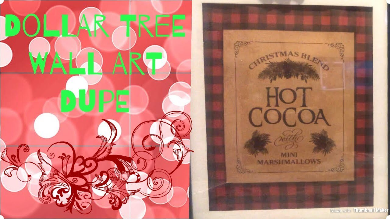 Wall Art With Christmas Bags And Dollar Tree Picture Frames