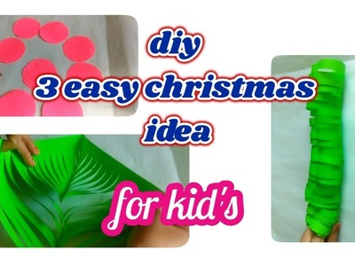 3 DIY CHRISTMAS CRAFT PROJECT FOR KIDS [recycle]-|Hindi|