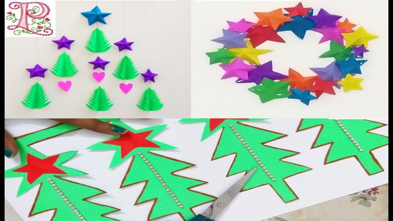 3 Easy Christmas Decoration ideas || Simple & Easy craft ideas || DIY room decor ideas