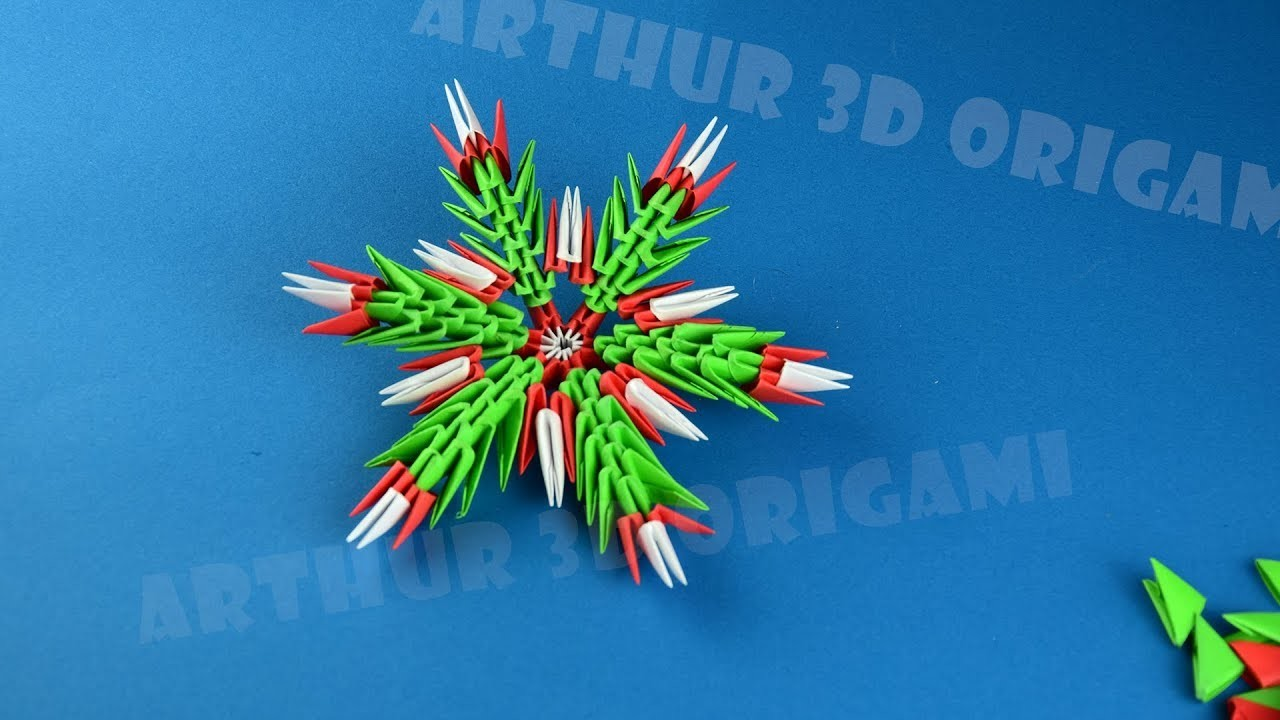 3D Origami How to make a snowflake from paper ✳ DIY
