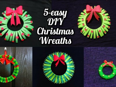 5 easy Christmas DIY Craft for School Project | Holiday craft | Christmas decoration ideas | wreaths