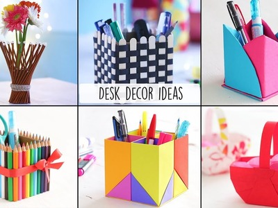 6 Easy Desk Decor Ideas | Desk Decor | Craft Ideas