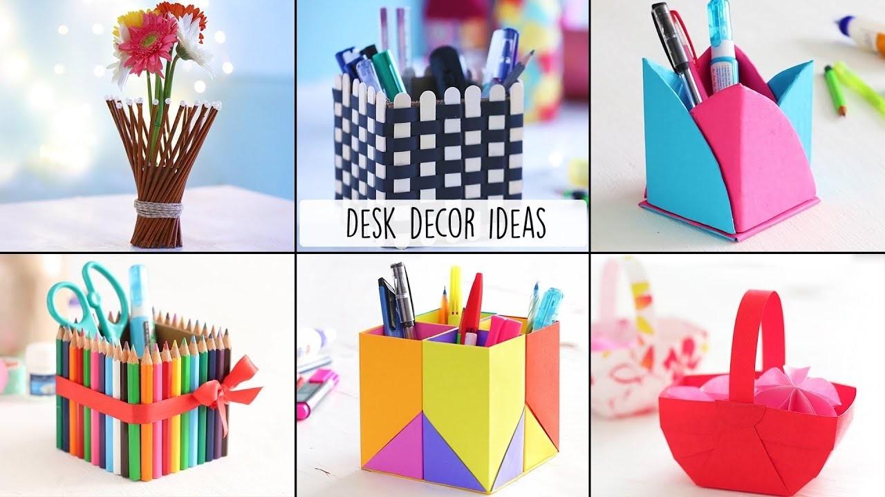 6 Easy Desk Decor Ideas | Desk Decor | Craft Ideas