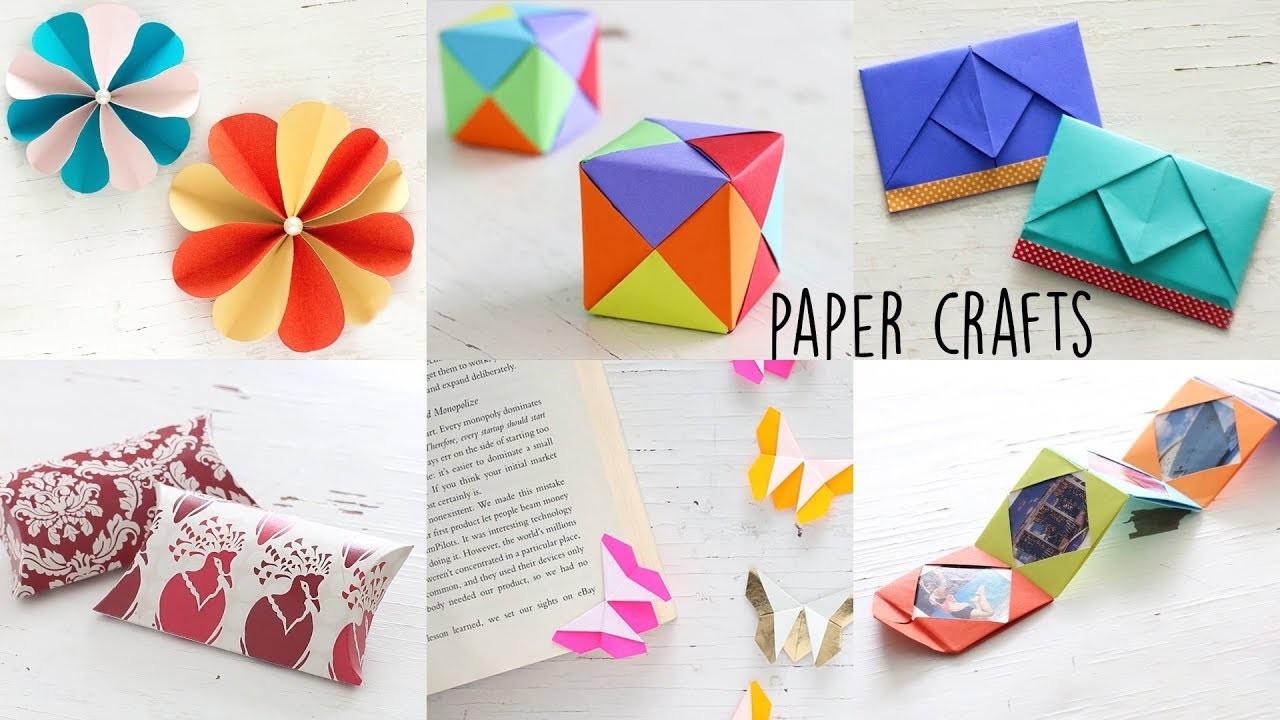 6 Easy Paper Craft Ideas Handmade Craft Ventuno Art
