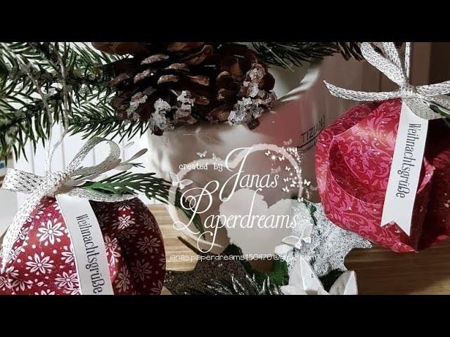 Balls for christmas tree. Kugeln für den Weihnachtsbaum mit Produkten von Stampin Up