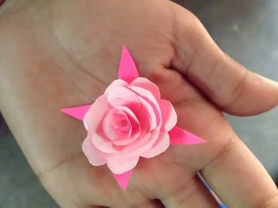 Beautiful Flower Craft Made By My Daughter !!!!! (Like, Share & Subscribe)
