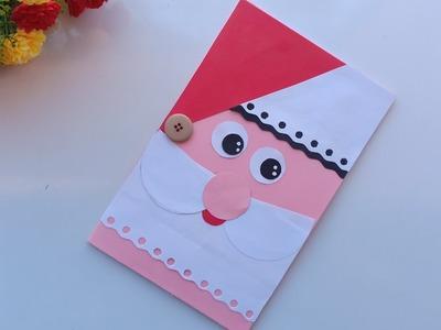 Beautiful Handmade Christmas card idea. DIY Greetings Cards for Christmas.