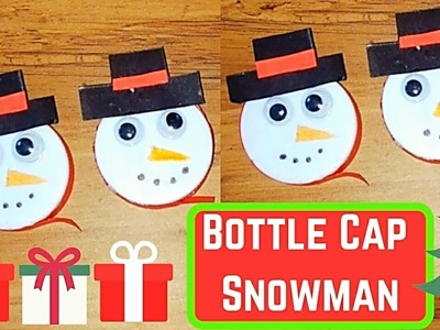 Bottle Cap Snowman Craft | Recycled Snowman Craft Ideas | Snowman Ornaments to Make