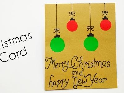 Christmas Card Making | DIY Christmas Card Idea | Easy Christmas Craft