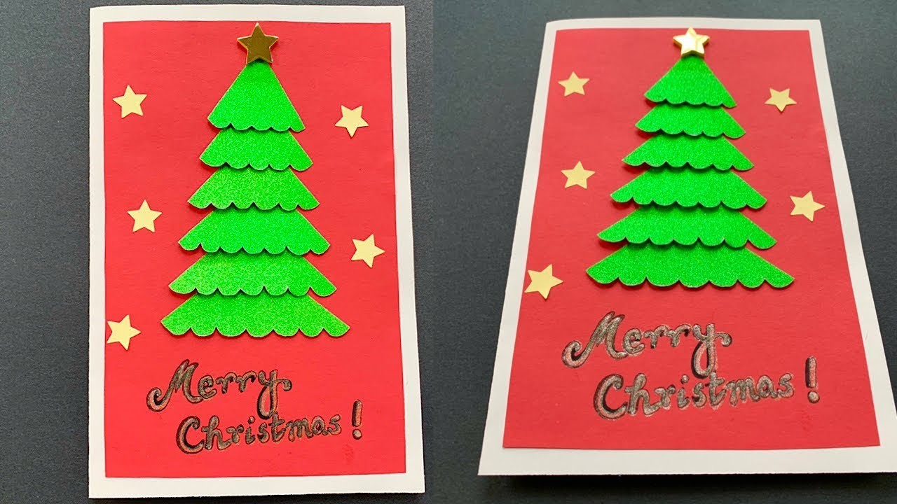 Christmas Card Tutorial - Easy DIY