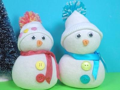 Christmas Craft for Kids | No Sew Sock Snowman