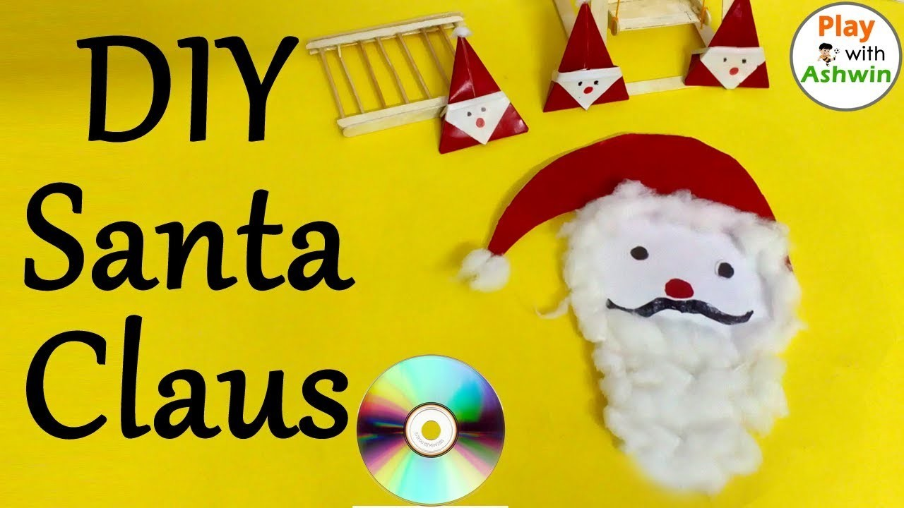 Christmas Craft Ideas: How to Make Santa Claus From CD | Amazing DIY crafts for Christmas(Today)
