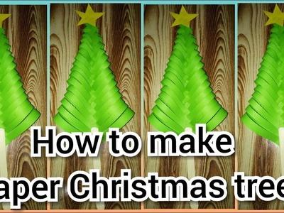Christmas craft ideas || Christmas tree DIY || how to make paper Christmas tree ||