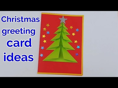 Christmas greeting cards craft ideas | New year greeting cards ideas | greeting card making ideas