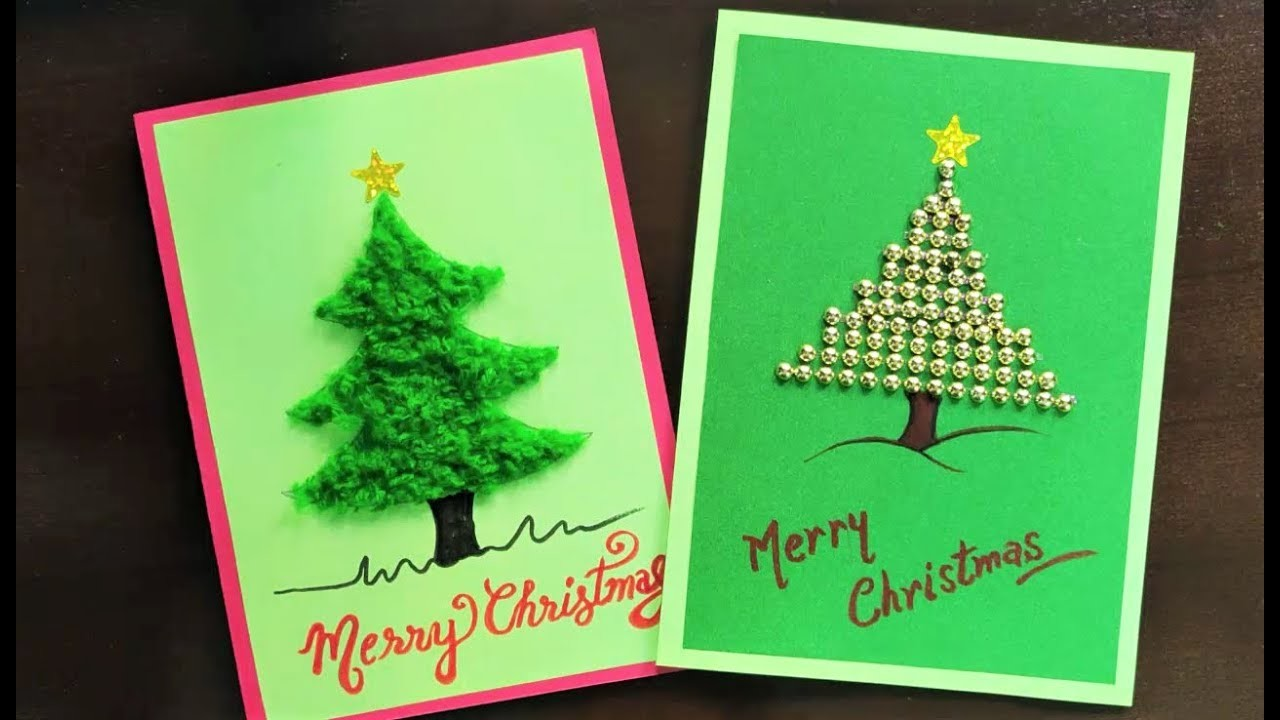 Christmas Greeting Cards handmade | DIY Easy Christmas Cards | How to make Christmas Card