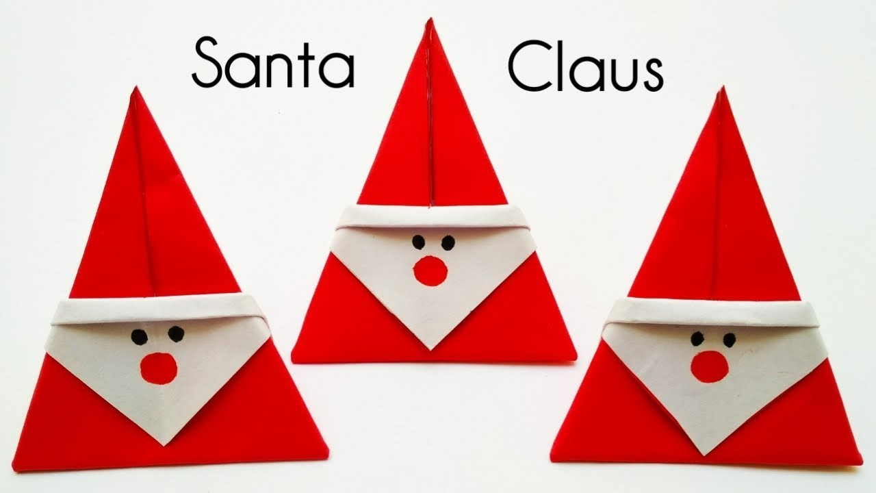 Christmas Origami Santa Claus | How To Make Santa Claus With Paper | Diy Santa Claus