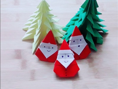 Christmas, santa claus making ,santa claus paper craft, how to make santa claus with paper origami
