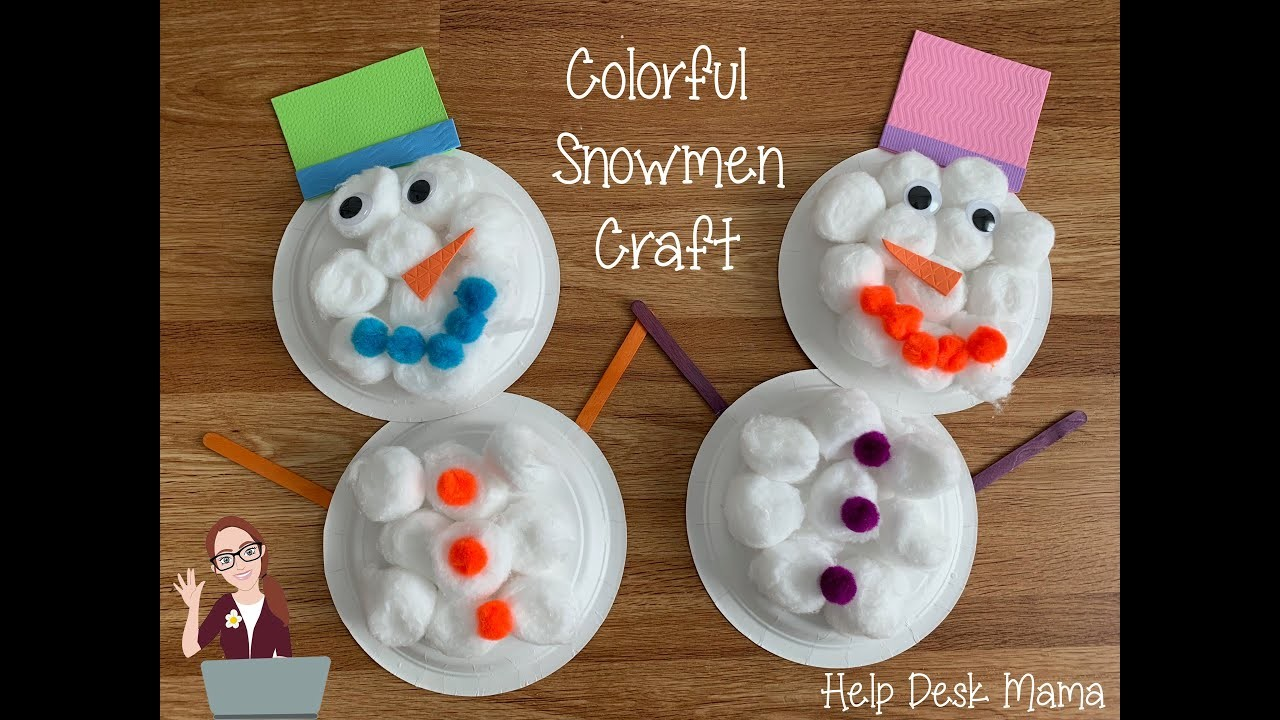 dollar store crafts for kids colorful snowman dollar craft 12124