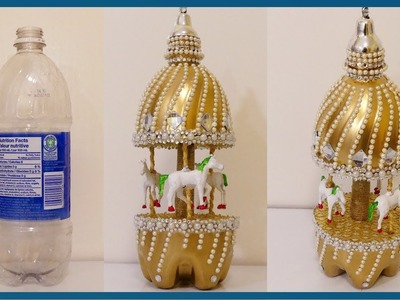 CUTE RECYCLED CRAFT#1: DIY Carousel Out of Plastic Bottle