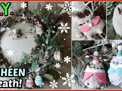 ✂ D.I.Y. Holiday Wreath w.PUSHEEN ORNAMENTS!!! | Craft-With-Me Q&A