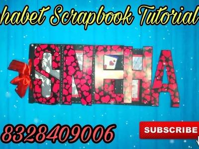 DIY Alphabet scrapbook tutorial | How to make name album | scrapbook making ideas by FeelBox