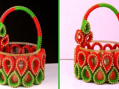DIY Basket Craft Idea || How to Make Basket Best Out of Waste || Home Decor