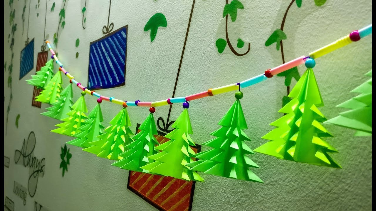 DIY Christmas Decoration || New Year Decoration using paper || DIY Room Decoration using paper