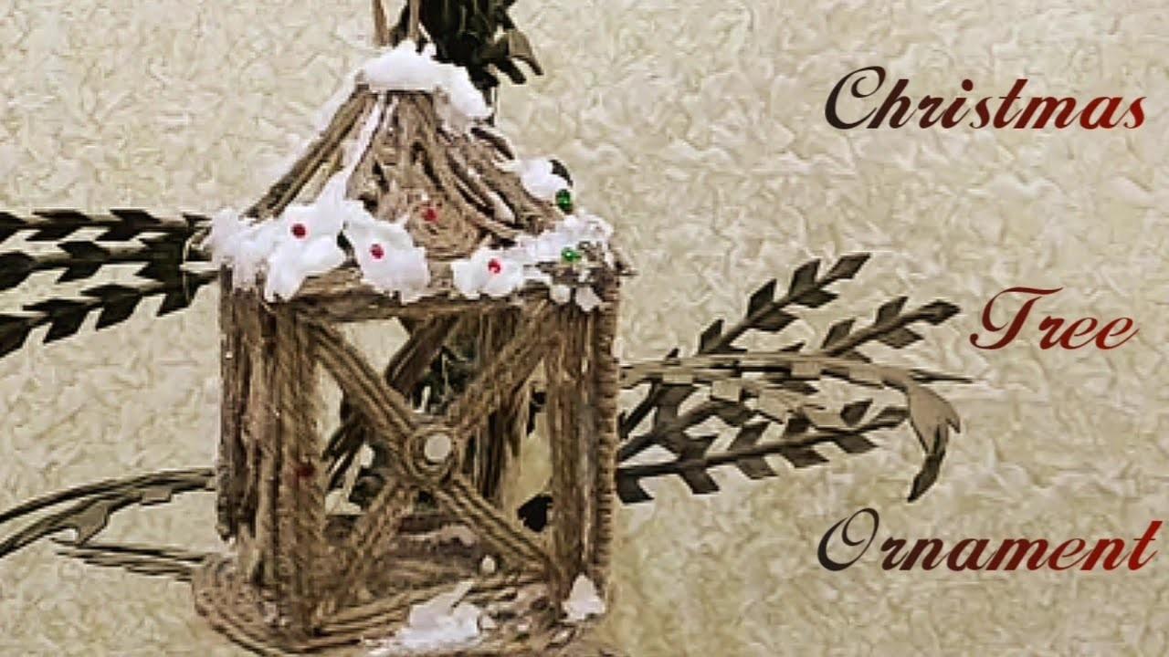 DIY - Christmas Tree Ornaments made from Jute | #JUTECRAFT | #Craft | #DIY