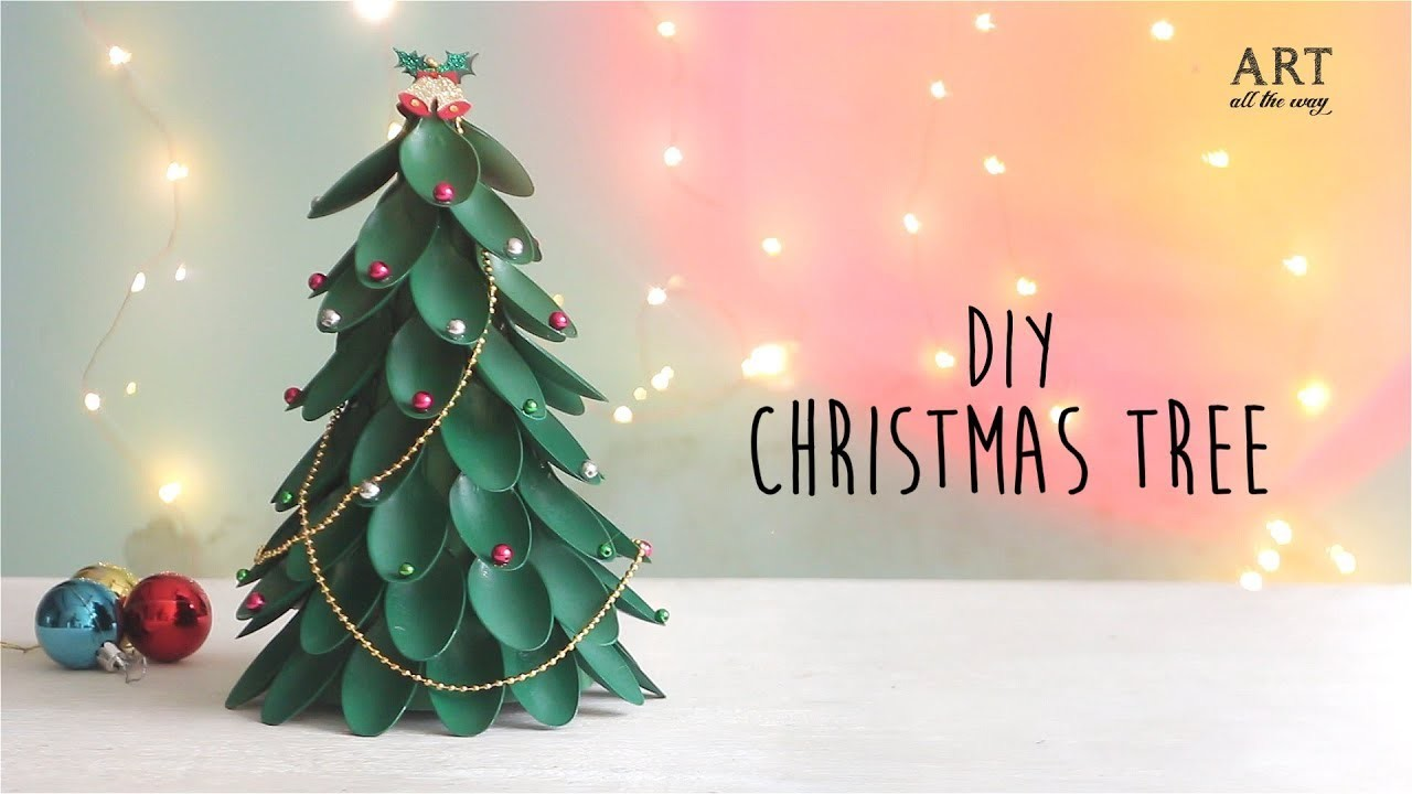 DIY Christmas Tree | Recycling Plastic Spoons Craft