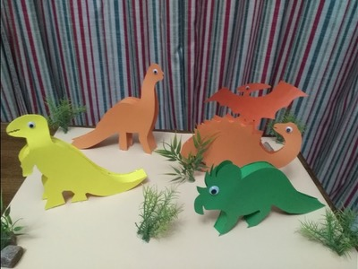 DIY Craft Astonishing Dinosaur Zone out of Papers