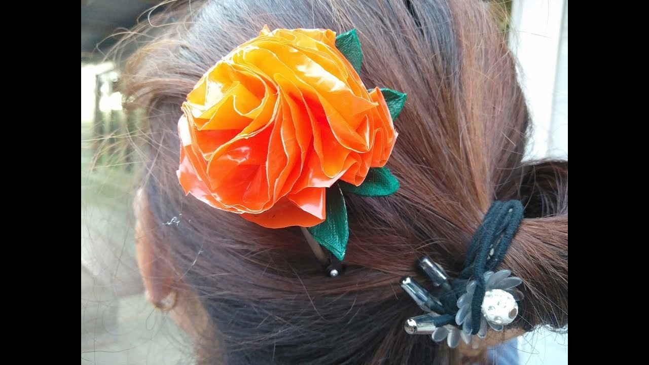 DIY craft-designing of hairpin, using waste materials.manipuri traditional miniature