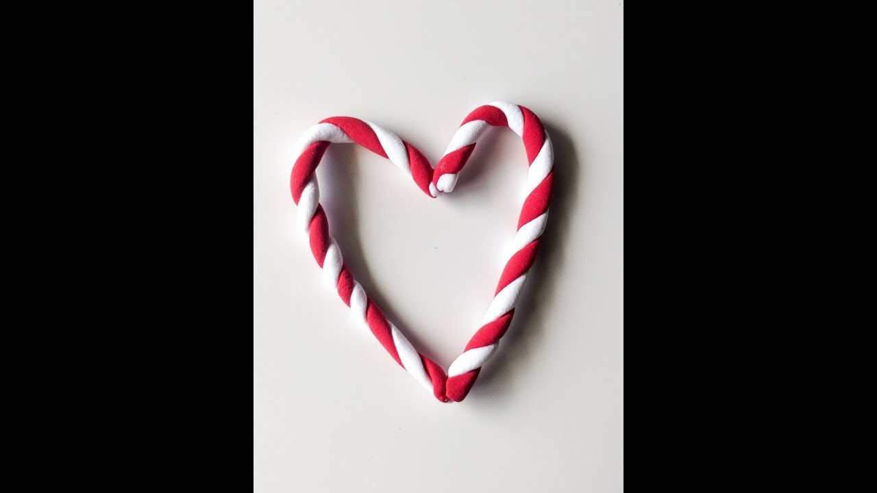 DIY Deco Clay Tutorial | How to make Candy cane