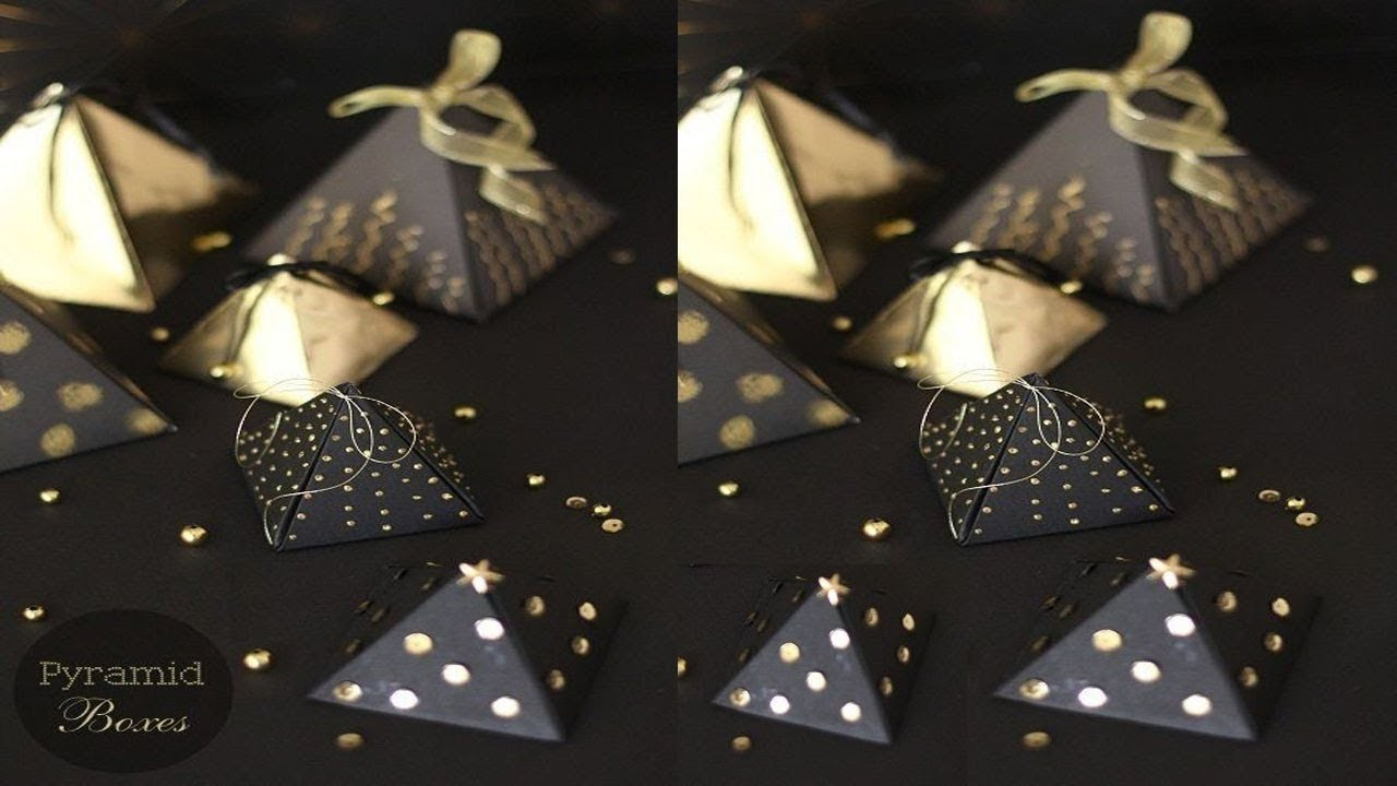 how to make a paper pyramid gift box