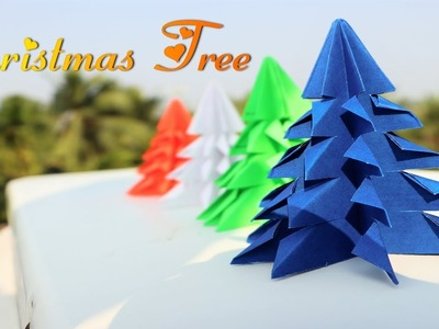 DIY - How To Make Very Easy Paper Christmas Tree || Christmas Tree Craft Ideas || Origami