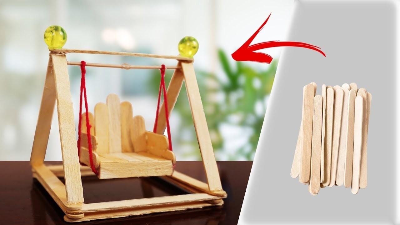 DIY  icecream sticks  Swing chair | How to make ice cream sticks craft | merry Christmas
