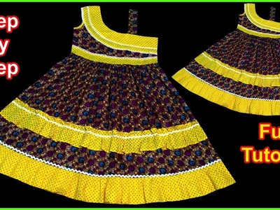DIY Khubsurat Designer A Baby Frock Cutting & Stitching Full Tutorial for Easy Way