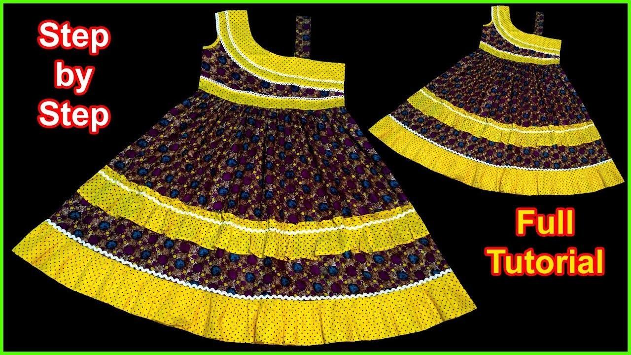 DIY Khubsurat Designer A Baby Frock Cutting & Stitching Full Tutorial for Easy Way