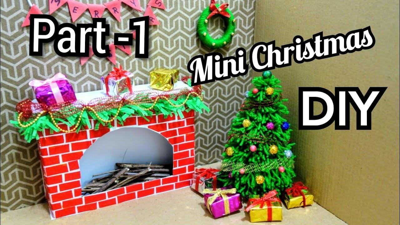 Christmas Dollhouse Decorations.Diy Mini Christmas Decorations Tiny Holiday Decor Ideas