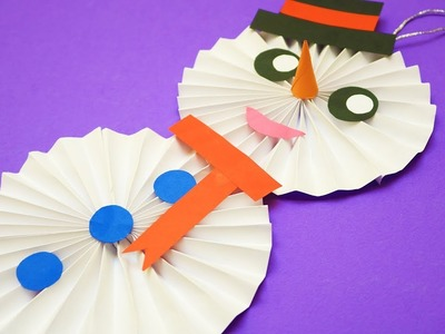 DIY Paper Snowman | Christmas Craft Ideas