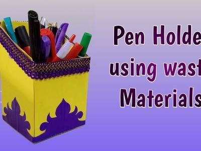 Diy Pen Holder From waste Box | pencil holder ideas