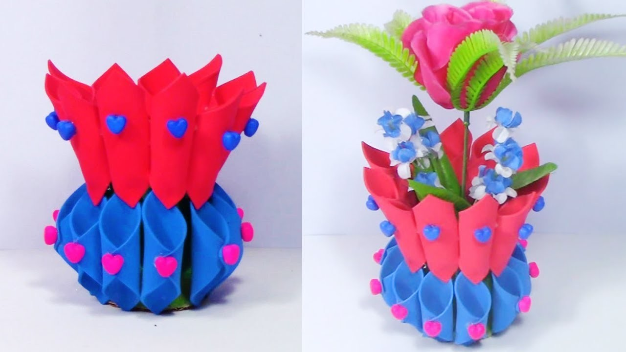 Diy Plastic Bottle Art And Craft Idea Best Out Of Waste Ideas Foam