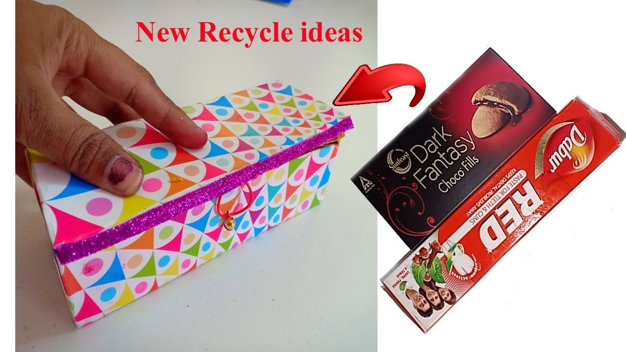 Diy Recycle Craft Ideas How To Make Jewelry Box With Tooth Paste