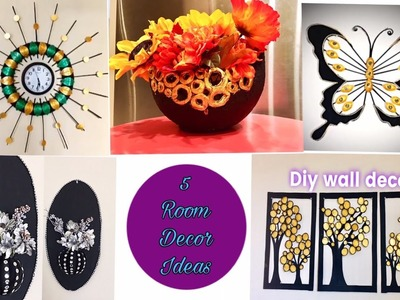 Diy room decor.5 room decorating ideas.easy craft at home.Fashion pixies.Home decor