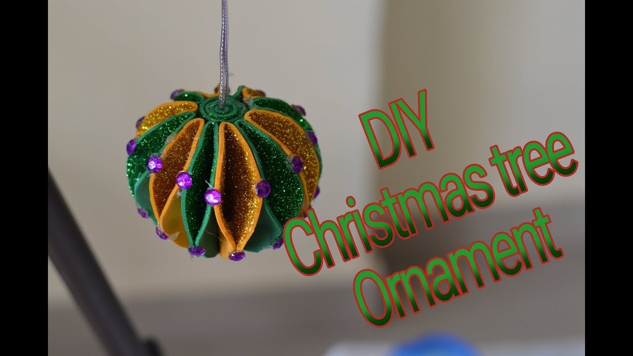 Diy Simple And Easy Christmas Tree Ornament Making