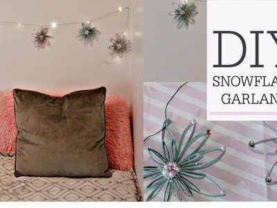 ❄DIY SNOWFLAKE FAIRY LIGHT GARLAND ❄TOILET PAPER ROLL CRAFT