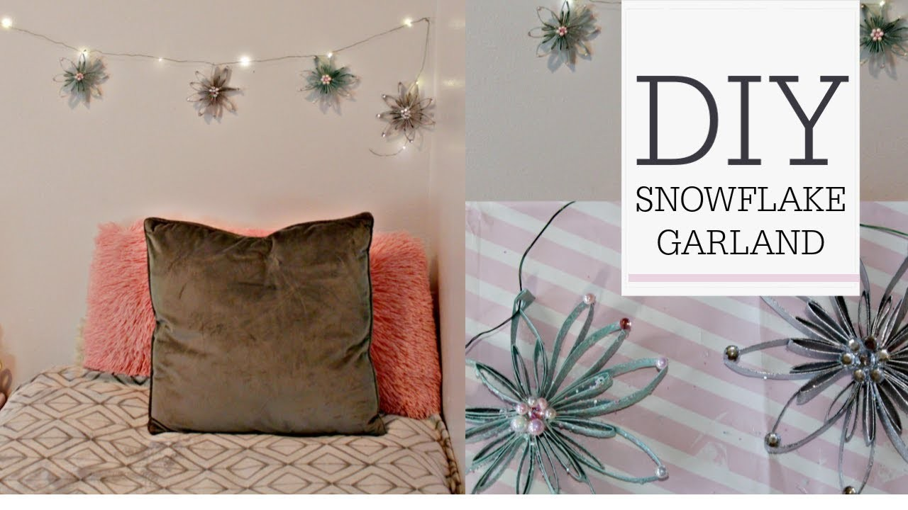❄DIY SNOWFLAKE FAIRY LIGHT GARLAND ❄TOILET PAPER ROLL CRAFT