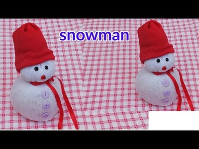 DIY Snowman | making easy socks snowman | Christmas craft idea for kids | Christmas decoration ideas