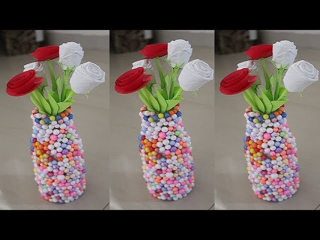 diy home decor from waste diy waste glass bottle decoration easy craft 12091