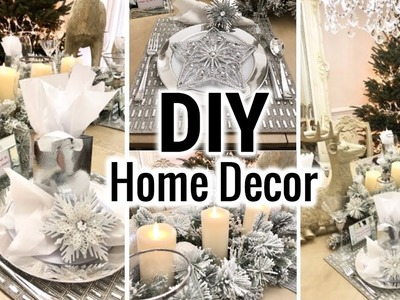 Dollar Tree DIY Glam Dining Room Makeover!   Dollar Tree DIY Christmas Decorate With Me