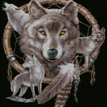 Unique Hand Made pdf Sewing Dmc Crafts Dream Catcher & Wolves Cross Stitch Pattern***LOOK***